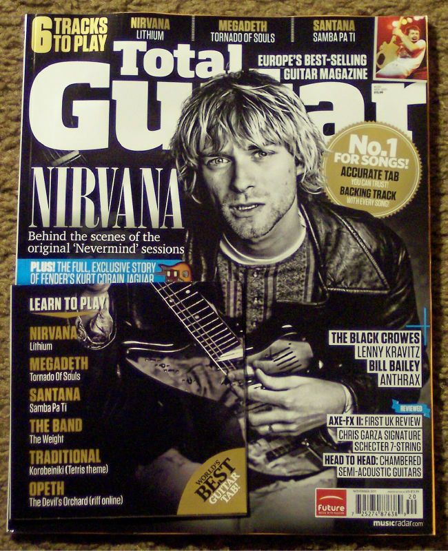 TOTAL GUITAR Nevermind + CD NIRVANA Kurt Cobain BLACK CROWES November
