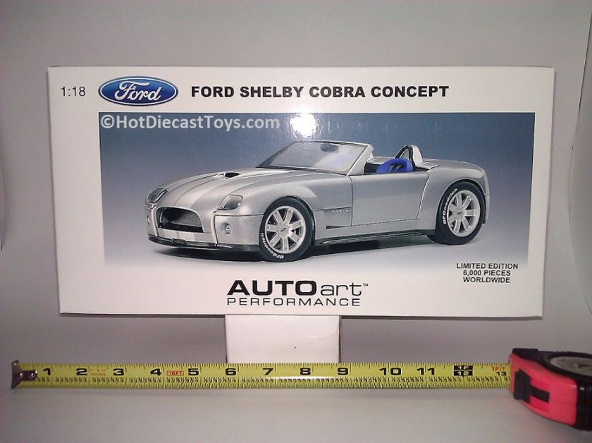 Autoart Ford Shelby Cobra Concept 118 1 of 6000, 73031